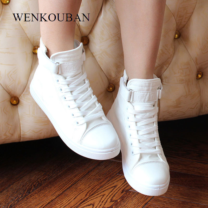 White High Top Shoes Women Canvas Sneakers Summer Vulcanize Shoes Women Trainers Ladies Casual Sneakers Black Zapatos Mujer цена 2017