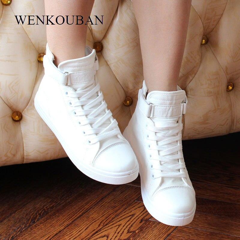 Blanc chaussures hautes femmes toile baskets été vulcaniser chaussures femmes baskets dames espadrilles décontractées noir Zapatos Mujer