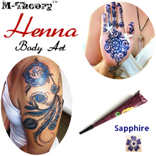 M-theory Indian Mehndi Henna 25g Waterproof Body Paint Temporary Body Arts Flash Tattoos Henna Swimsuit Bikini Makeup Tools hot old 3 dials 5 hands 1856s london brass pocket watch