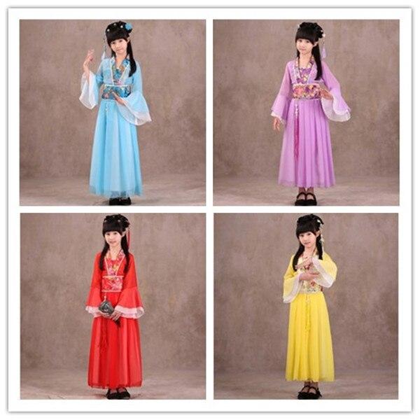 1 Meisje Oude Chinese Traditionele Nationale Kostuum Hanfu Roze Jurk Prinses Kinderen Hanfu Jurken Cosplay Kleding Meisjes Kids Goed Voor Antipyretische En Keel Fopspeen