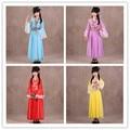 1 chica nacional tradicional chino antiguo traje hanfu pink dress vestidos de princesa niños hanfu cosplay ropa niñas niños