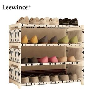 Image 2 - Leewince خزانة خذاء بسيط s مصنوعات متعددة الطبقات تجميع رف الأحذية مع الحديثة بسيطة الغبار خزانة خذاء 50 سنتيمتر هايت