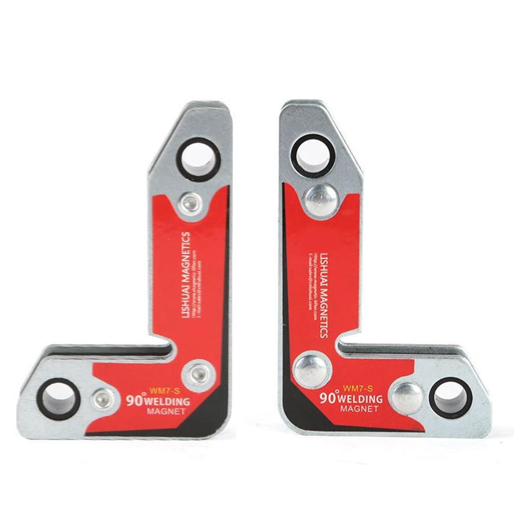 2 teile/satz WM7-S Magnetischer Halter/Ecke Schweißen Magneten/Interne Und Externe Rechten Winkel Fixateur 30 60 90 Winkel magnetische Clamp