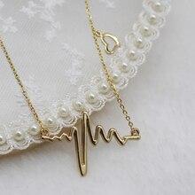 CHENFAN Heartbeat trinket Decorations Chains Necklace Pendants choker chain suspension bijouterie pendant Suspension