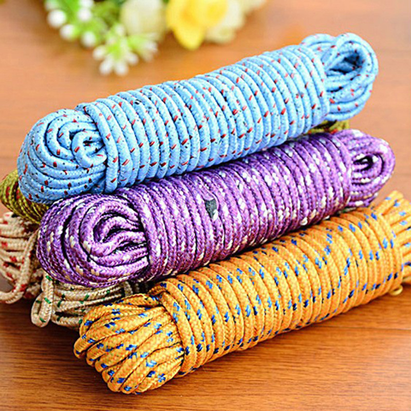 10m portable outdoor camping traveling more nylon non slip windproof safety ropes drying rope home rope New pattern classicAB146-in Clotheslines from Home & Garden