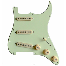 Donlis prewired Гитара pickguard Проводная Alnico Гитара pickguard мятный зеленый SSS загруженная Гитара pickguard сборка