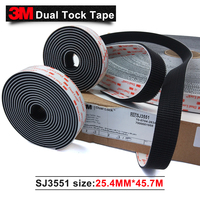 100 3M Original Brand Products Black Acrylic Double Sided Tape SJ3551 Dual Lock Tape 1 In