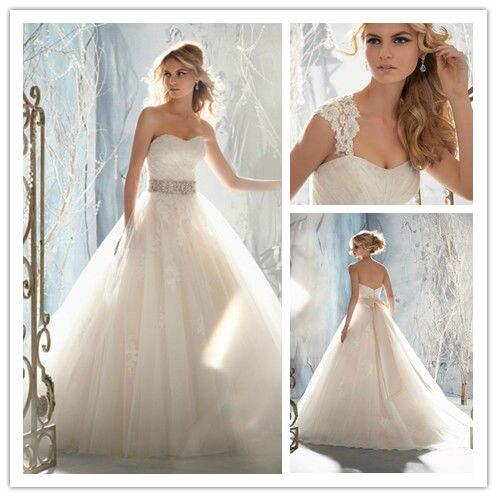 Vestidos de novia baratos cristal desmontable correas de boda ...