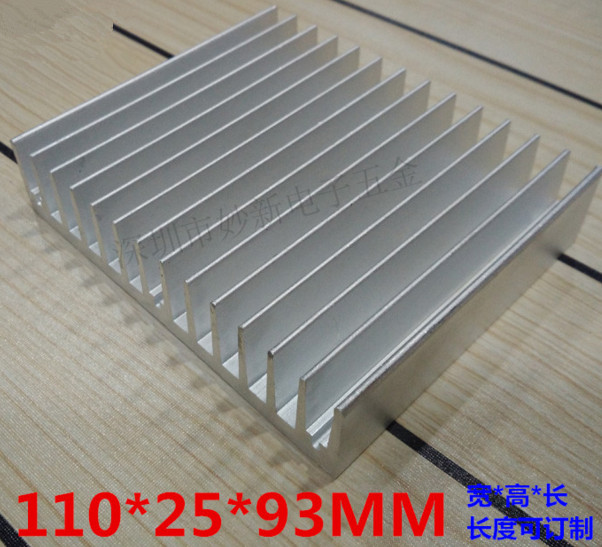 Fast Free Ship Aluminum heat sink 93*110*25MM high power radiator aluminum chip heat conduction block factory sale Radiator free shipping 20pcs aluminum heat sink 25 x 25 x 10mm electrical accessories