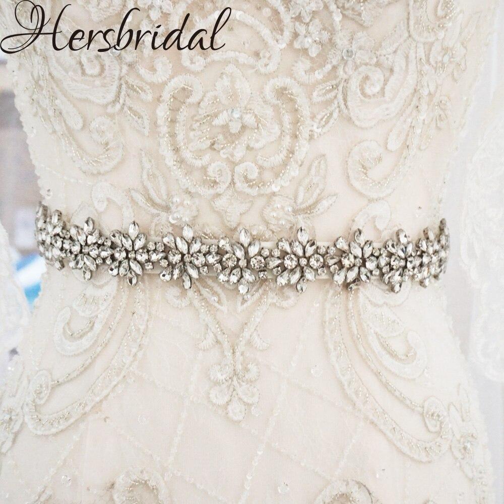 Silver Skinny Bridal Sash Belt Rhinestone Belt Wedding Dress Accessories