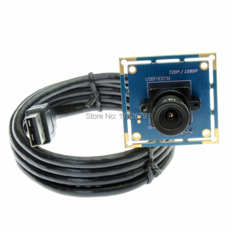 2MP FHD 1920 x 1080 6mm lens USB Webcam borad cctv camera cmos OV2710 security camera mini 38*38mm with 1/2/3/5m usb cable лазерный дальномер makita ld050p
