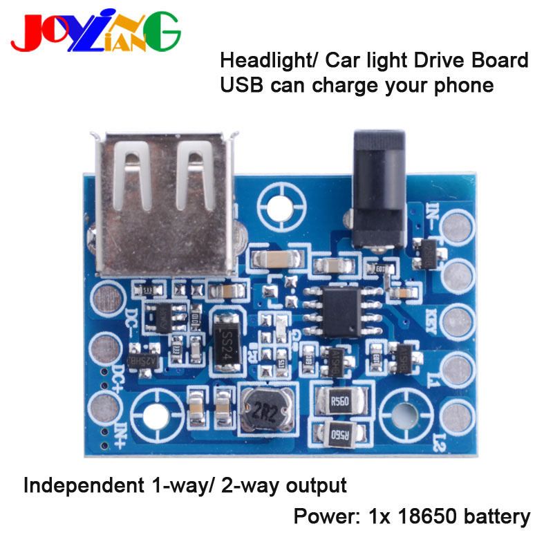 JYL-5001 Head Lamp LED Drive Board 18650 Circuit Board USB To Mobile Phone Charging T6/ U2/ Q5 Headlamp Accessories