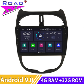 Android 9.0 Car Radio For Peugeot 207 CC Stereo GPS Navigation 2 Din Autoradio HD Screen Car Head Unit Multimedia DVD Player image