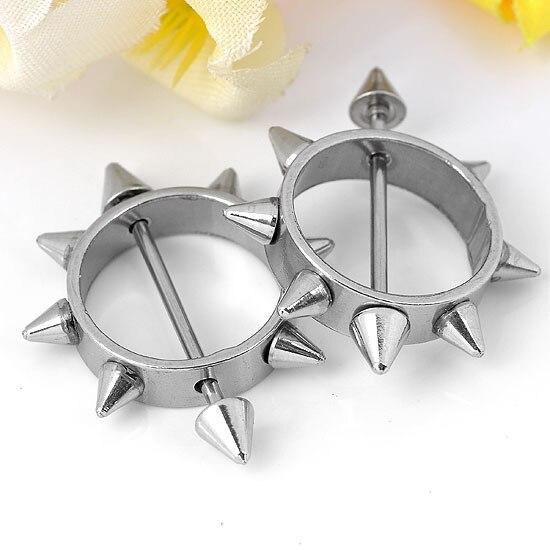 Spiked nipple rings