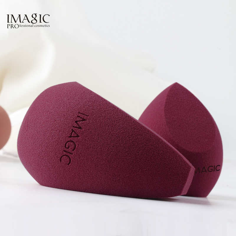 IMAGIC 2 PCS Profissional Sopro Esponja Cosmética Para A Fundação de Maquiagem Corretivo Creme Maquiagem Liquidificador Esponja de Água Por Atacado