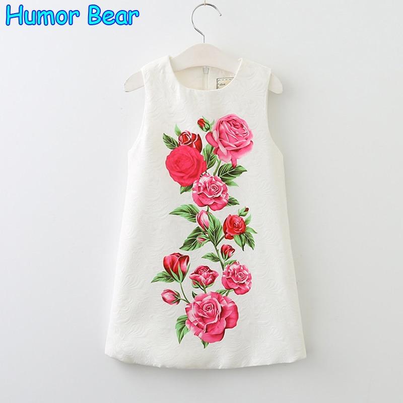 Humor bear girls dress new summer sleeveless