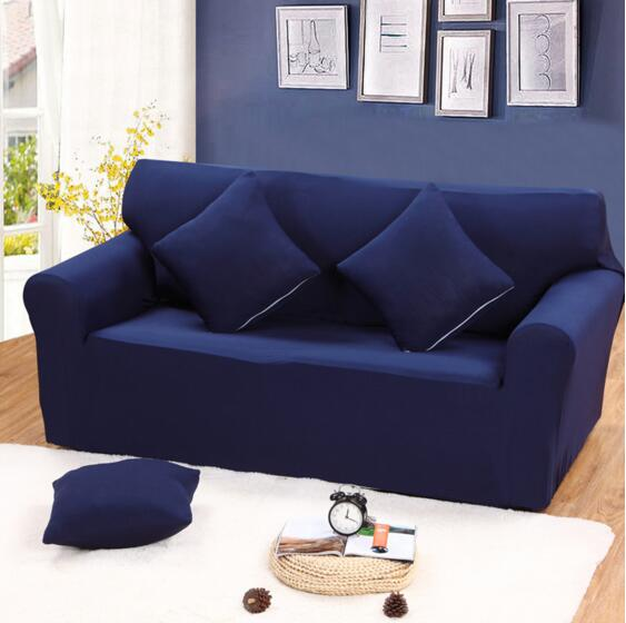 6 Solid Pure Colour Lounge Couch Stretch Sofa Cover 1 Seater 2 Seater 3 Seater Furniture