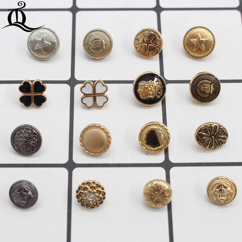 Home & Garden Arts,crafts & Sewing 10-12mm Mix British Style High-grade Lion Metal Buttons Wheat Round Coat Jacket Sweater Clothing Garment Accessories Diy Mate