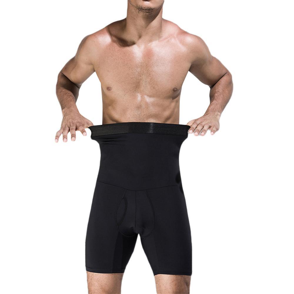 Men's body shaper tummy control slimming shapewear shorts high waist bdomen trimming boxer brief stretch pants 180032
