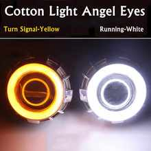 2Pcs 60mm 70mm 80mm 90mm 100mm 110mm 2835 LED Head Light Halo Ring Angel Eyes