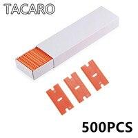500pcs Double Edged Razor Blades For Razor Scraper Glass Car Cleaning Squeegee Vinyl Film Car Wap Sticker Glue Remover Wholesale