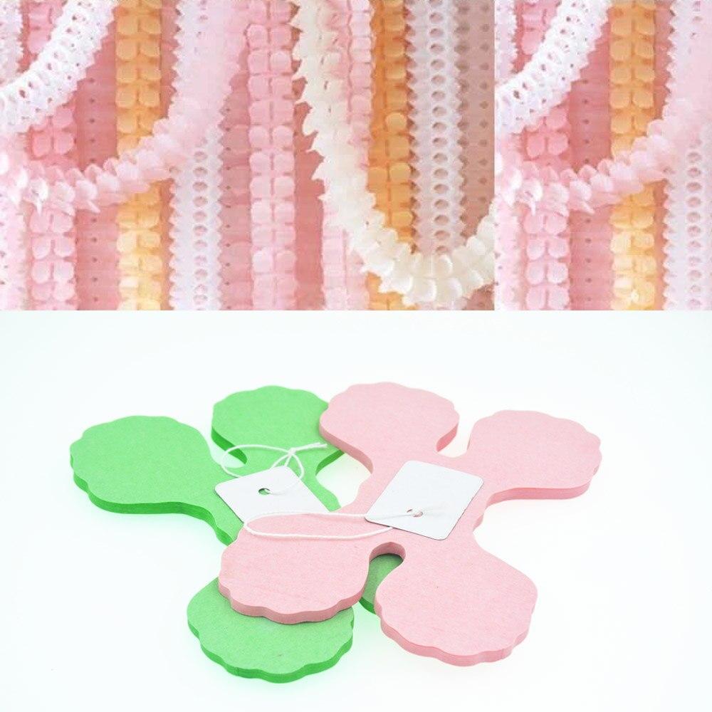 Bryllup dekoration Pink Prinsesse Tema Papir Garland Puff Tissue Have - Varer til ferie og fester - Foto 3