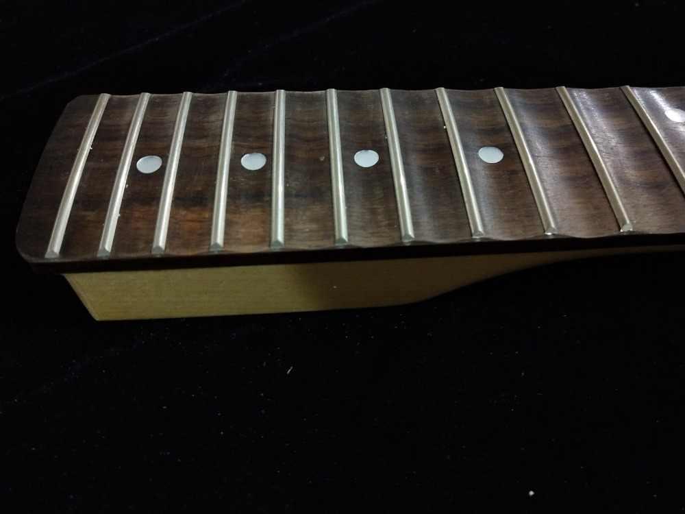 Volle scalloped ahorn Gitarre Hals für ST stil 22 Fret Große kopfplatte