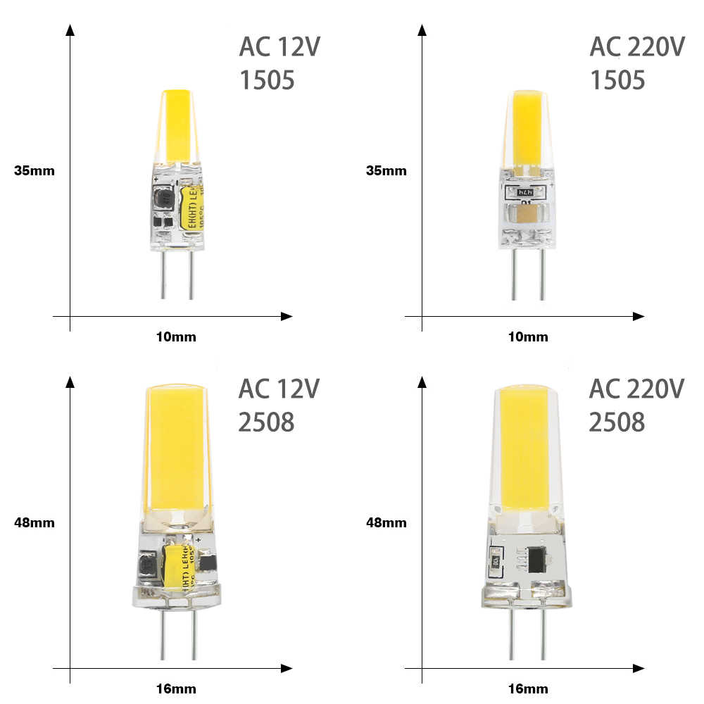 Bombillas G4 LED Light Bulb 12V 220V Lampada LED Lamp Bulbs G4 ACDC 12V COB Replace 25W Halogen Spotlight Chandelier