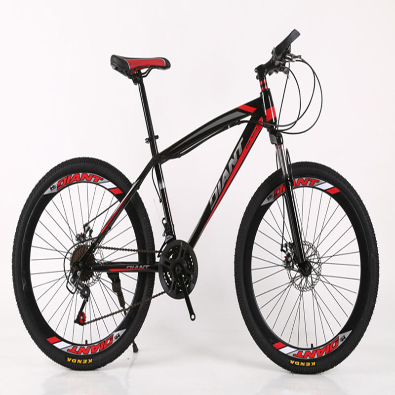 26 Inchs Mountain Bike Shock Absorption PVC Non-Slip Foot Double Disc Brake Variable Speed Sports And Recreation