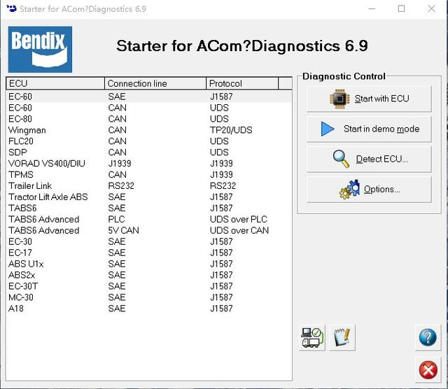 Bendix ACom Diagnostic Software (v61124) -in Software from