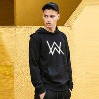 Fashion Men Fleece Sweatshirts Music DJ Divine Comedy Alan Walker Faded Coat Hoodies Sweatshirts Men Pullovers