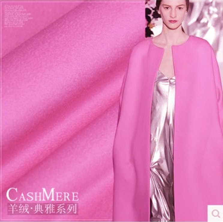 Высокое качество экспорт Итальянская роза красная кашемировая ткань зимнее пальто шерстяная ткань толстое пальто кашемировая шерстяная ткань кашемировая ткань