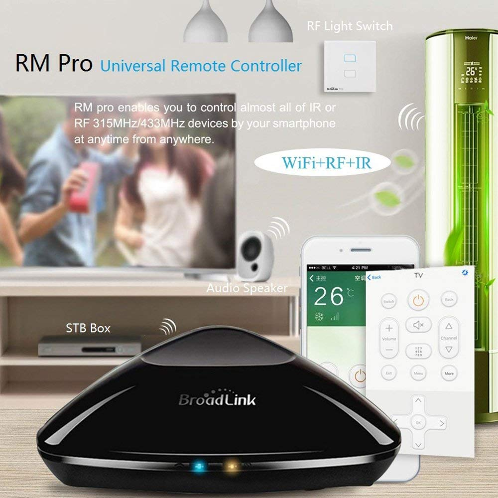 Broadlink 2018 New RM33 RM Pro + WiFi IR RF Smart Home Hub, Alexa Echo Google Home Mini IFTTT Ձայնի վերահսկման WiFi ունիվերսալ Remote