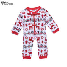 Baby boy gril christmas clothes deer snow toddler bodysuit infant coverall kids jumpsuit newborn One-piece children clothing set