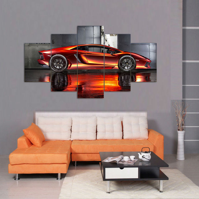 2017new hot sales withframed 5piecesset posters and the red car 2017new hot sales withframed 5piecesset posters and the red car wall art for wall teraionfo