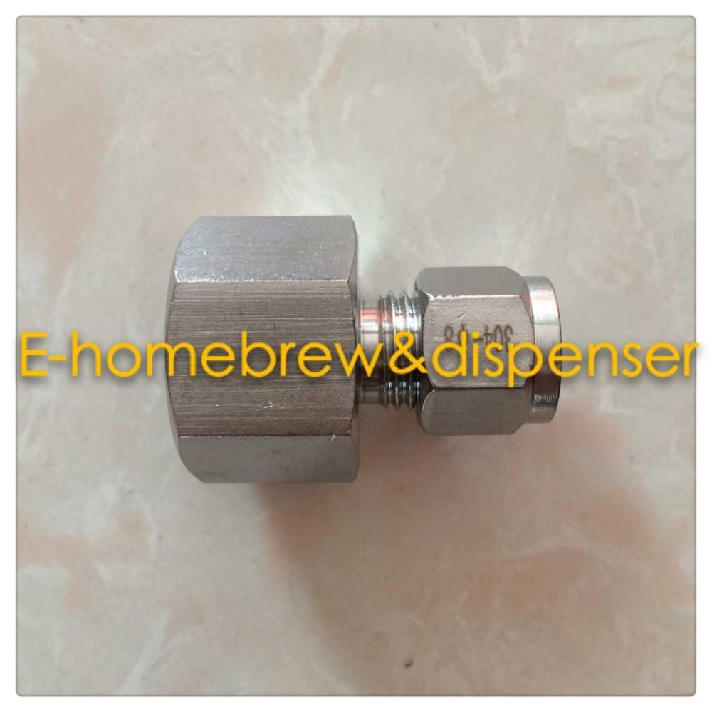 Free shippping food grade 304 stainless steel ferrule connector ,Female ZG1/2,For 10mm hose.