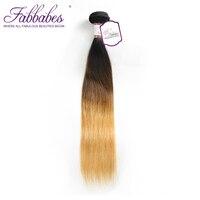 Empresa Cabelo Ombre Weave Brasileiro Do Cabelo Reto Fabbabes T1B/4/27 cabelo Remy Feixes de cabelo 100% Cabelo Humano 1 Peça Pode Misturar Qualquer comprimento