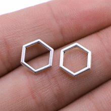 Wysiwyg 40 pçs encantos favo de mel hexagonal 10x10mm antigo cor prata pingente hexagonal favo de mel encantos jóias descobertas