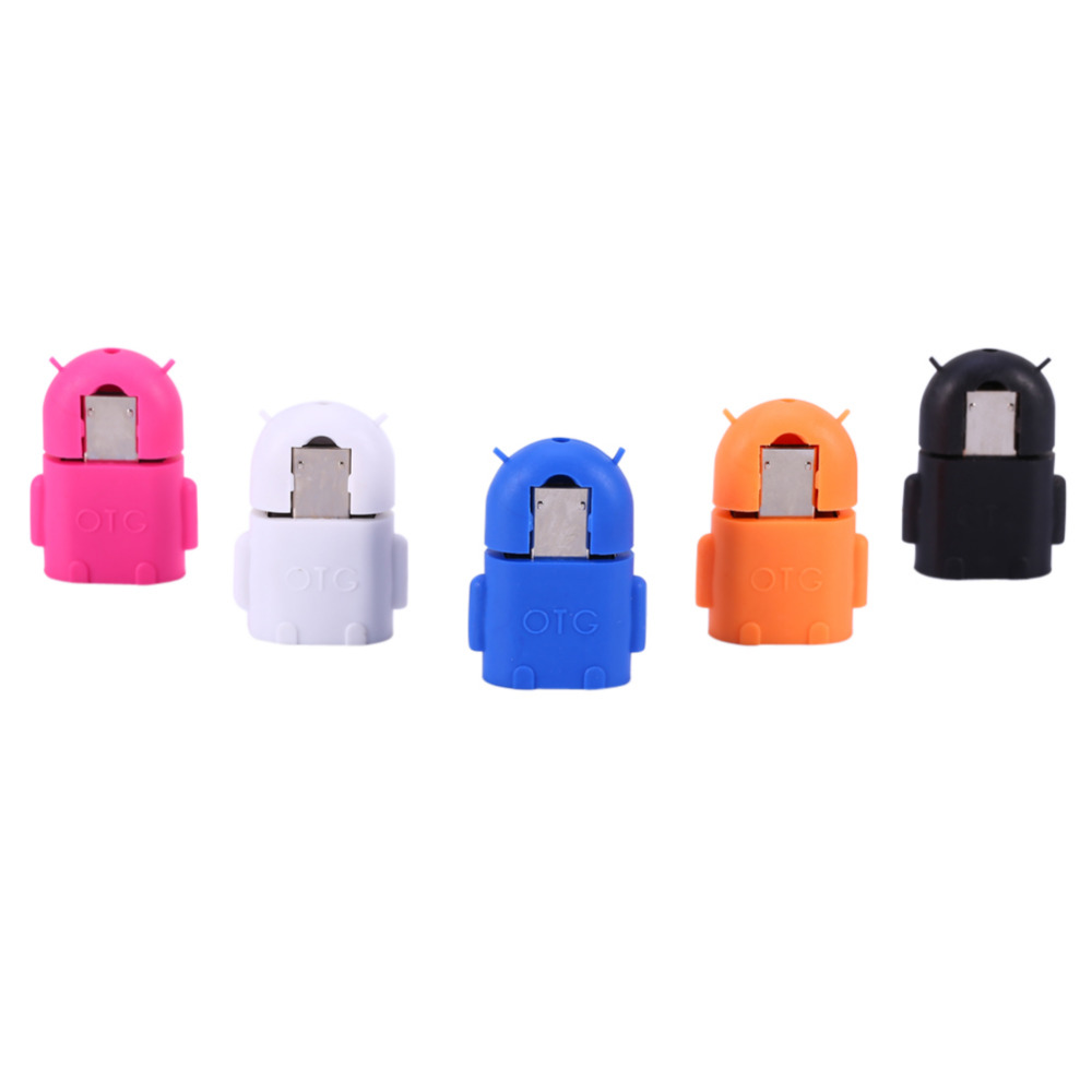 Android Robot Shape Micro USB OTG Adapter Converter For Samsung S3 S4 S5 Smartphone Tablet MP3 MP4 PC Mouse Keyboard