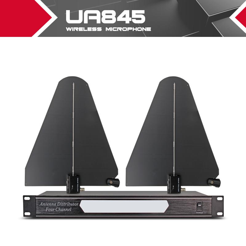 Prix pour 400 mètres Fréquence 550-950 MHz Quatre Canal Antenne Distributeur UA845 Microhone Splitter Collecteur pour Sans Fil Microphone