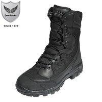 Мужские военные ботинки; сезон осень зима; китайская тактическая обувь; Зимние ботильоны высокого качества; Мужская безопасная прокалывающ