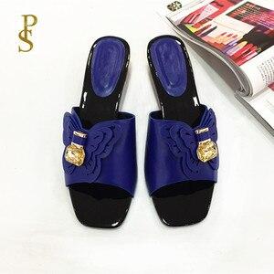 Image 4 - Sapatos de estilo africano para mulher mama chinelos sapatos de salto baixo