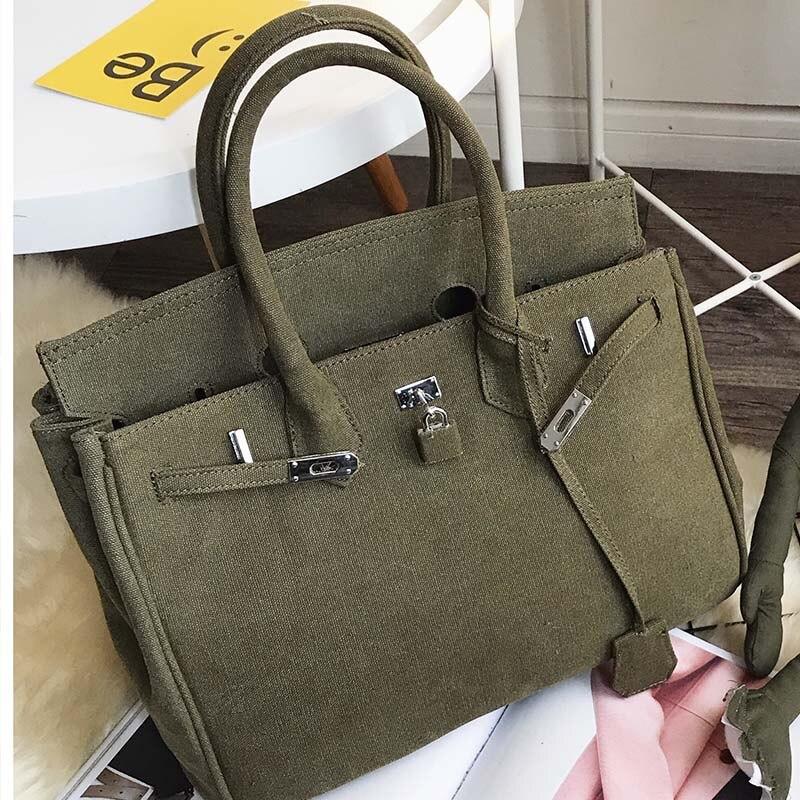 Gamystye Vintage Women's Messenger Bags Canvas with Lock Shoulder Bag Fashion Casual Crossbody Bags Printing Travel Handbags
