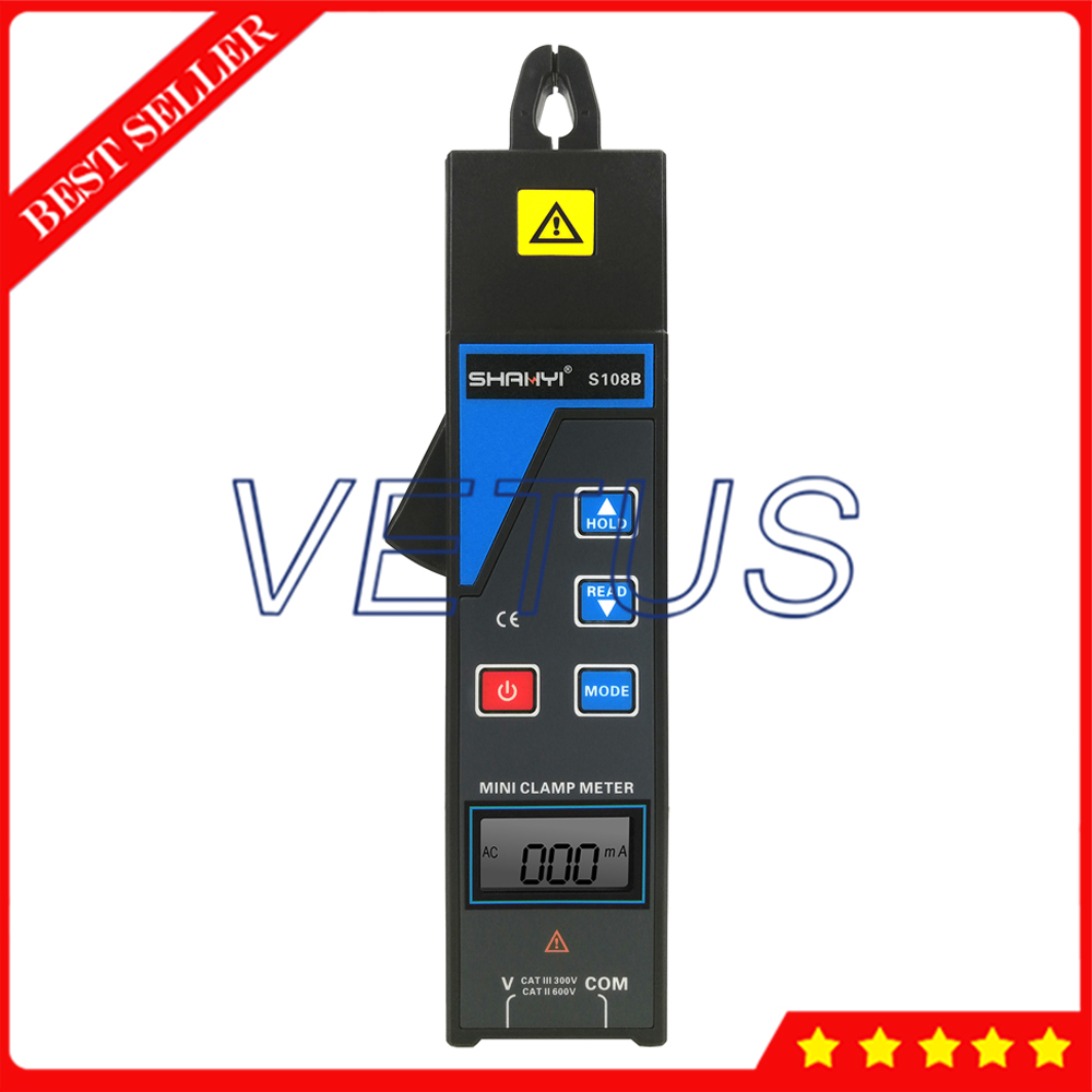 S108B Mini Clamp Current Leakage Meter With Voltage 0 to 600V Current 99 sets data save For Online test 380/220V power system - 2