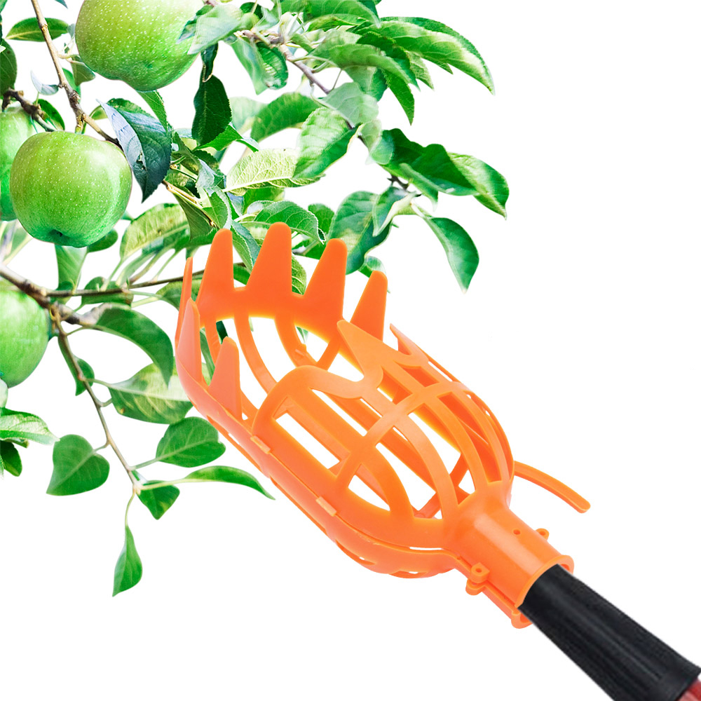 Garden Tools Fruit Picker Catcher Plastic Fruit Picking Tool without Pole Apple Pear Peach Picker Catcher Garden Pruning Tool