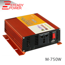 750W modified sine wave inverter 12v 24v dc to 220v ac 50HZ 60hz converter /peak power 1500w invertor with Universal socket