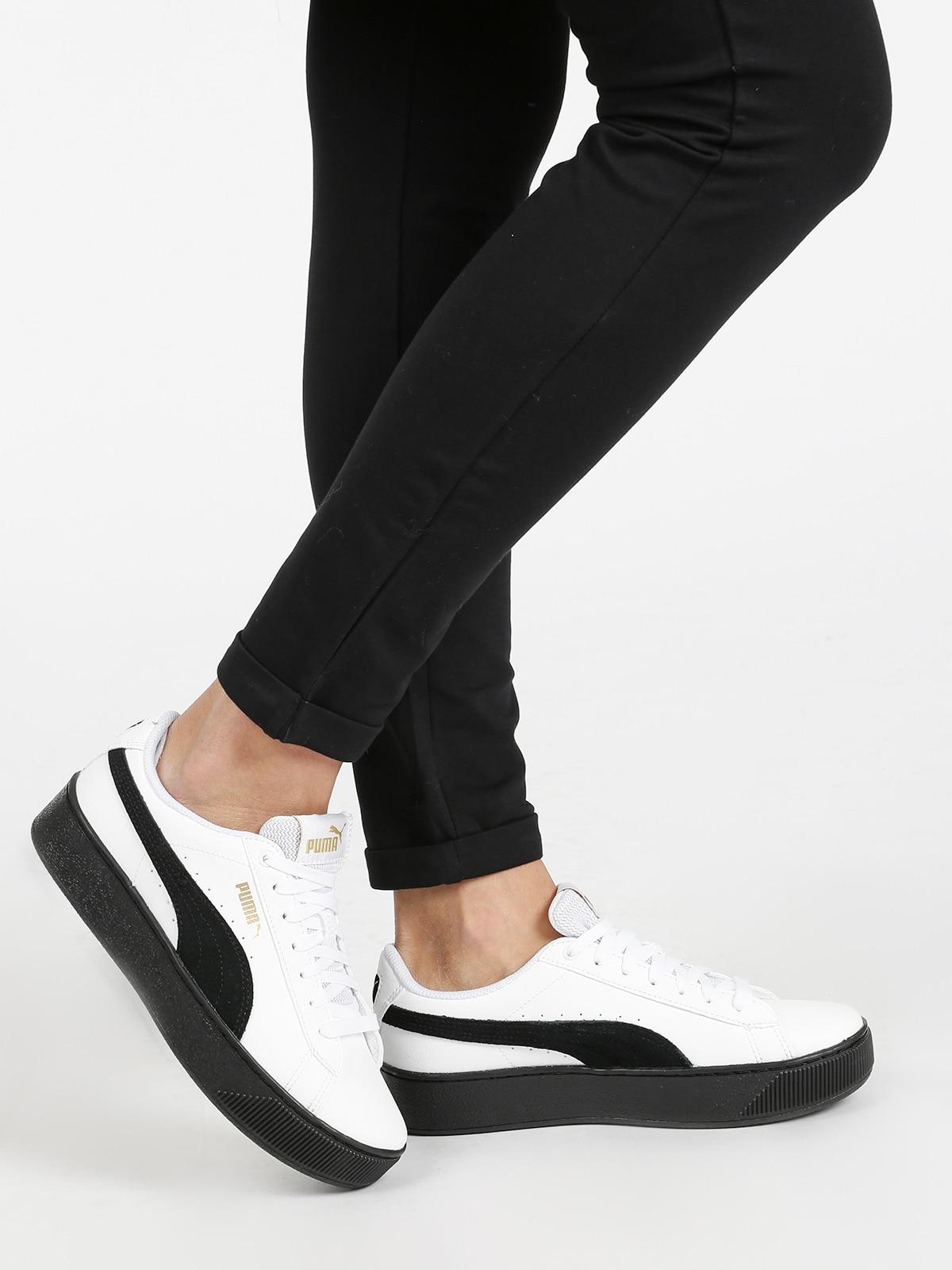 Vikky platform L - Sneakers basse con platform - bianco/nero