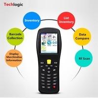 Techlogic X5 сканера штриховых кодов Беспроводной лазерный ручной терминал КПК склад инвентаризации супермаркет Дисплей информация о продукте
