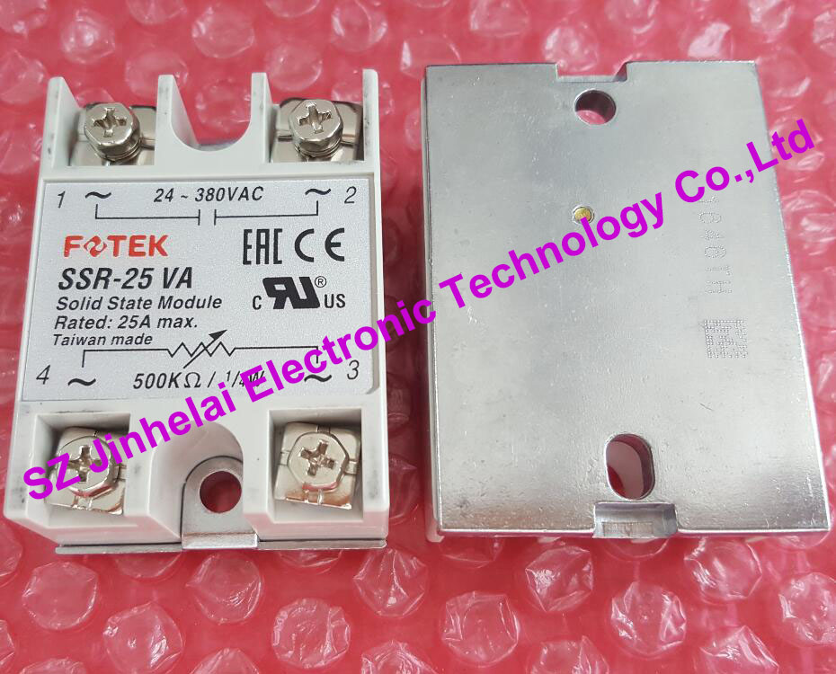 SSR-25VA New and original FOTEK SOLID STATE MODULE, SOLID STATE RELAY,Current regulating module new and original sa34080d sa3 4080d gold solid state relay ssr 480vac 80a