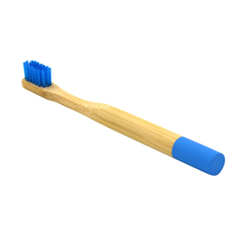 Blue Bamboo Toothbrush for Kids